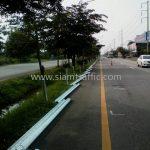 road crash barrier ทางหลวงหมายเลข 4 ตอนควบคุม 0401, 0402 ตอน ห้วยชินสีห์ - ปากท่อ – สระพัง แขวงทางหลวงสมุทรสงคราม