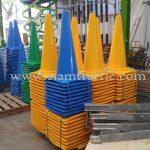 กรวย สีเหลือง สีเขียว สีน้ำเงิน บริษัท เอ.พี.ฮอนด้า จำกัด