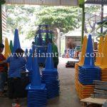 กรวยพลาสติก สีเหลือง สีเขียว สีน้ำเงิน บริษัท เอ.พี.ฮอนด้า จำกัด
