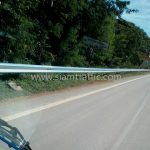 guardrail ทางหลวงหมายเลข 3206 ตอนควบคุม 0101 ตอน ปากท่อ – ท่ายาง ปริมาณงาน 1,344 เมตร