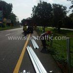 guard rail ทางหลวงหมายเลข 24 ตอน หนองกี่ - นางรอง