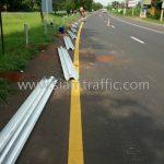 w-beam guard rails ทางหลวงหมายเลข 24 ตอน หนองกี่ - นางรอง