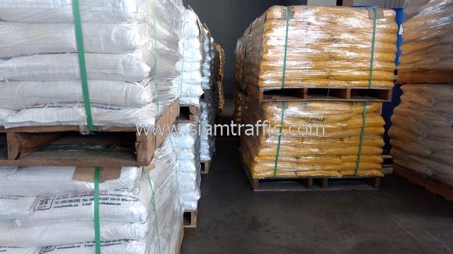 สีทาพื้นถนน สีเหลืองและสีขาว จำนวน 3,000 ถุง ส่งไปประเทศพม่า