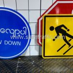 Warning signs and Regulatory signs import from Thailand