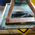 Steep ascent warning sign export to Yangon Myanmar