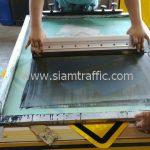 Steep ascent traffic warning sign export to Yangon Myanmar