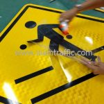 Pedestrain crossing warning sign import from Thailand