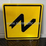 Double bend to right and to left sign export to Yangon Myanmar