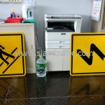 Pedestrian crossing sign and Double bend warning sign export to Myanmar