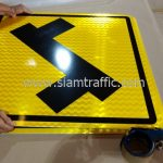 Left turn first warning sign import from Thailand
