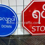 Slow down sign and Stop sign export to Myanmar