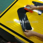 Sharp right turn warning sign import from Thailand