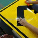Sharp right turn traffic warning sign import from Thailand