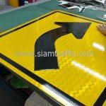 Right bend sign export to Yangon Myanmar