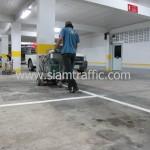 ตีเส้นช่องจอดรถอาคารจอดรถโรงแรมดุสิตธานี