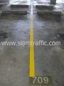 งานตีเส้นจราจรอาคารจอดรถธนาคารกสิกรไทยสำนักงานใหญ่