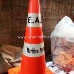 กรวยติดสติ๊กเกอร์ EAS Maritime Agencies
