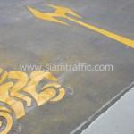 รับเหมาตีเส้นจราจรรูปจักรยานยนต์ อาคารกรุงเทพประกันภัย ถนนสาทร