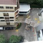 ตีเส้นลานจอดรถ อาคารกรุงเทพประกันภัย