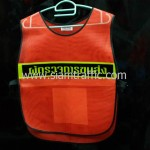 เสื้อสะท้อนแสงปูนซีเมนต์ตราเสื้อด้านหน้าสกรีนผู้ตรวจการขนส่ง