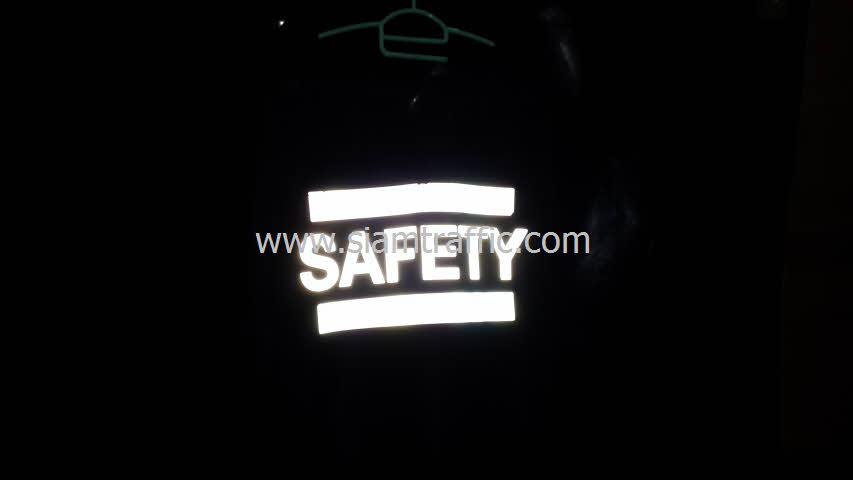 เสื้อสะท้อนแสงทีมควบคุมฉุกเฉินด้านหลังสะท้อนแสง
