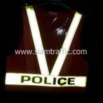 เสื้อเซฟตี้ด้านหลังสกรีน POLICE สะท้อนแสง