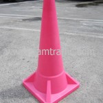 กรวยจราจรสีชมพูขนาดสูง 1 เมตร