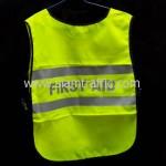 เสื้อกั๊กเซฟตี้ด้านหน้า PTT CHEM ด้านหลัง FIRST AID