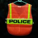 เสื้อกั๊กเซฟตี้ POLICE ด้านหลัง