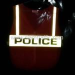 เสื้อกั๊กเซฟตี้ POLICE ด้านหลังสะท้อนแสง