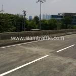 ตีเส้นถนนสะพานไทย เบลเยี่ยม รับตีเส้นถนน