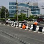 ตีเส้นถนนสะพานไทย เบลเยี่ยม