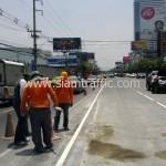 รับตีเส้นจราจรและทาสีขอบทาง ตีเส้นถนนสะพานไทย เบลเยี่ยม