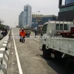 ตีเส้นสะพานไทย เบลเยี่ยม ถนนพระราม 4