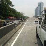 ตีเส้นถนนสะพานไทย เบลเยี่ยม ถนนพระราม 4