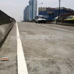 ตีเส้นสะพานไทย เบลเยี่ยม สีตีเส้นจราจรชนิดสีเทอร์โมพลาสติก ถนนพระราม 4