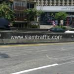 ตีเส้นถนนสะพานไทย เบลเยี่ยม สีตีเส้นจราจรชนิดสีเทอร์โมพลาสติก ถนนพระราม 4