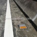 ตีเส้นจราจรสะพานไทย เบลเยี่ยม ตีเส้นจราจรบนสะพานลาดยาง ถนนพระราม 4