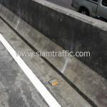 ตีเส้นถนนสะพานไทย เบลเยี่ยม ตีเส้นจราจรบนสะพานลาดยาง ถนนพระราม 4