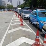 ตีเส้นจราจรสะพานไทย เบลเยี่ยม งานตีเส้นจราจรมาตรฐานกรมทางหลวง ถนนพระราม 4