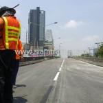 ตีเส้นถนนสะพานไทย เบลเยี่ยม สีตีเส้นจราจรชนิดสีเทอร์โมพลาสติก