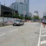 ตีเส้นถนนสะพานไทย เบลเยี่ยม งานตีเส้นจราจรมาตรฐานกรมทางหลวง ถนนพระราม 4