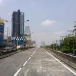 ตีเส้นสะพานไทย เบลเยี่ยม ตีเส้นจราจรบนสะพานลาดยาง
