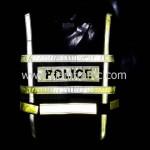 เสื้อเซฟตี้สะท้อนแสงสภ.อ. หลังสวนด้านหน้า POLICE ด้านหลังสะท้อนแสง