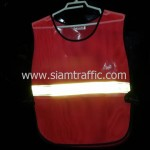 เสื้อเซฟตี้สะท้อนแสงติดแถบสะท้อนแสง 1 แถบด้านหน้าสะท้อนแสง