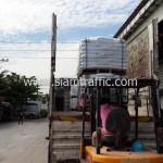 สีตีเส้นถนนและเครื่องตีเส้นจราจรส่งออกไปประเทศกัมพูชา