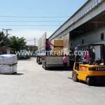 สีตีเส้นถนนและเครื่องตีเส้นถนนส่งออกไปประเทศกัมพูชา