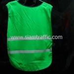 เสื้อกั๊กจราจรสะท้อนแสงสีขียว APEX CIRCUIT ด้านหลัง