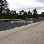 Guardrail หนา 3.2 มิลลิเมตร ติดตั้งที่ตำบลช่องเม็ก อำเภอสิรินธร จังหวัดอุบลราชธานี