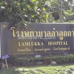 ตีเส้นบริเวณโรงพยาบาลลำลูกกา